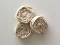 Rustic fabric flowers - shabby chic flower- craft supplies ...