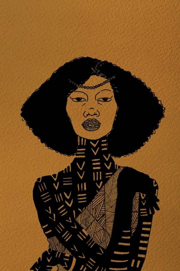 Melanin Melancholy Merin Afrocentric Art Black