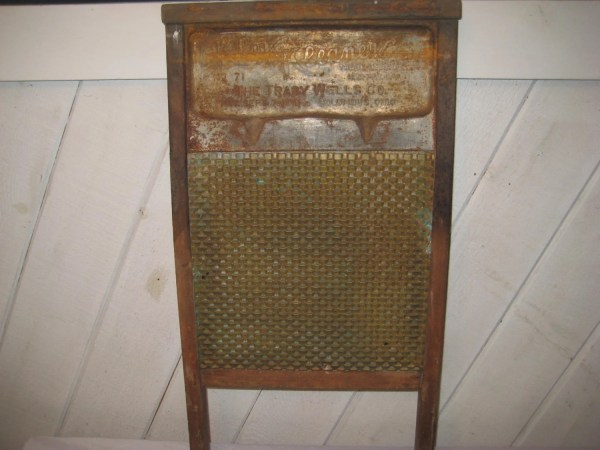 Antique Washboard Wood Metal Rustic