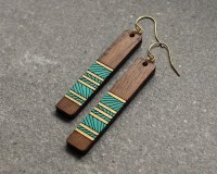 Wood Earrings Lines Earrings Laser Cut Wood Earrings Custom