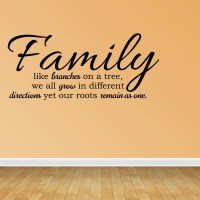 Wall Decal Family Like Branches On A Tree Vinyl Wall Decal