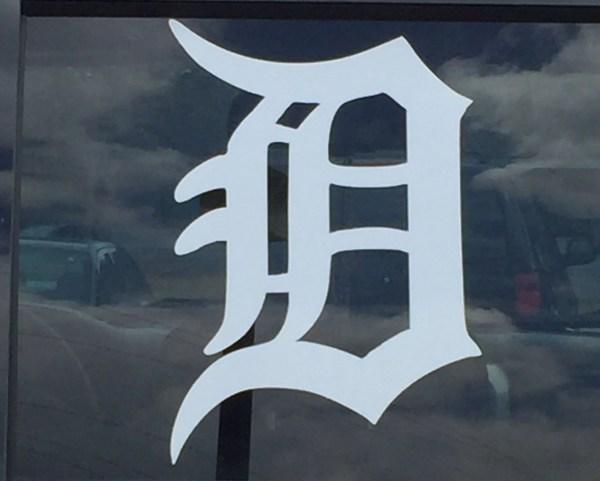 Detroit Vinyl Window Decal Tigers Vehicle