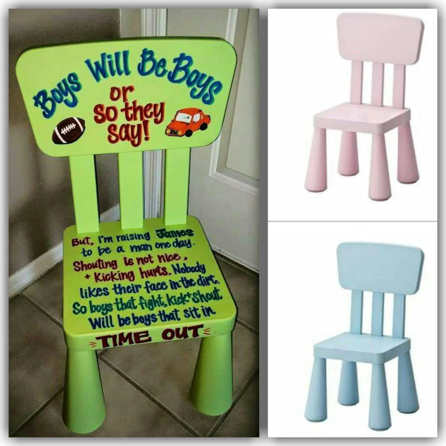 kids time out chair office zippay kid 39s hand painted boys or girls