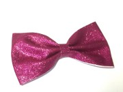 hot pink glitter hair bow large