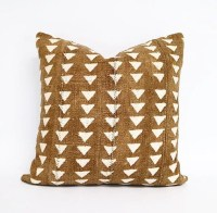 Authentic Brown African Mudcloth Pillow Cover by INDIEbungalow