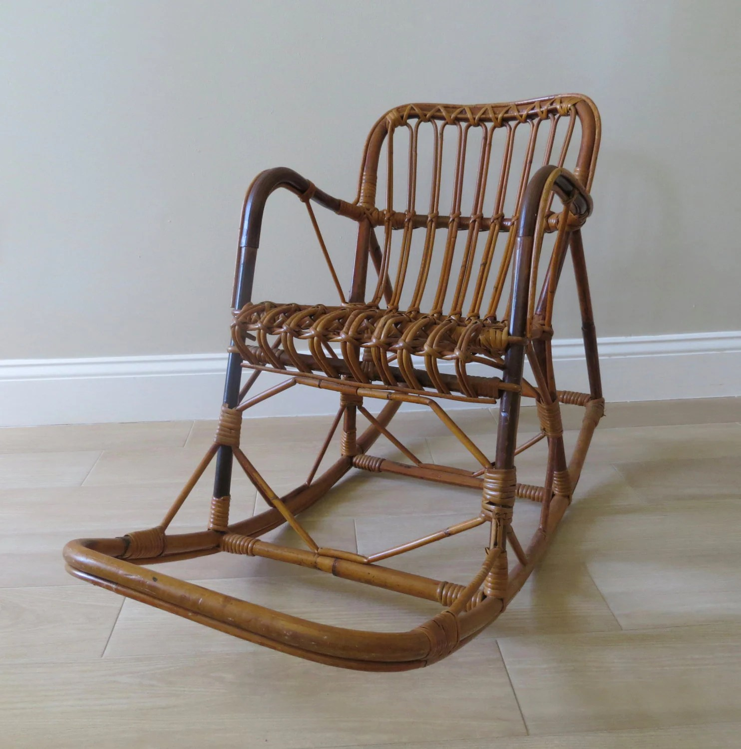 childs rattan chair stool dwg reserved on sale vintage child rocking franco