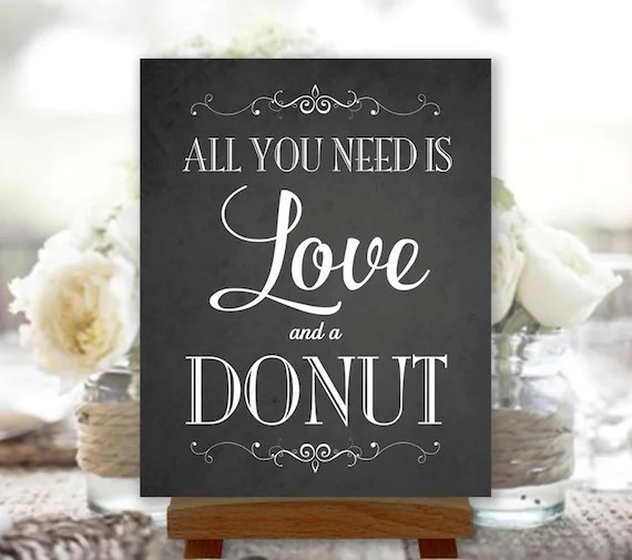 Download All You Need Is Love and a Donut Chalkboard by PrintablePixels