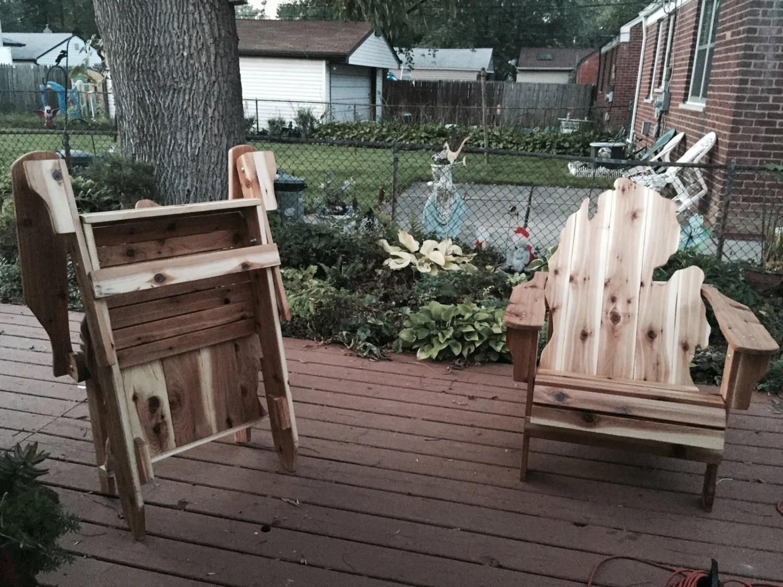 michigan adirondack chair cover rental peoria il first ever folding handmade cedar