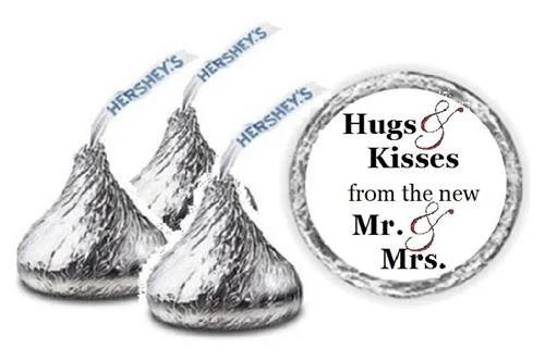 108 Wedding Hershey Kiss Hugs & Kisses from the new Mr. and