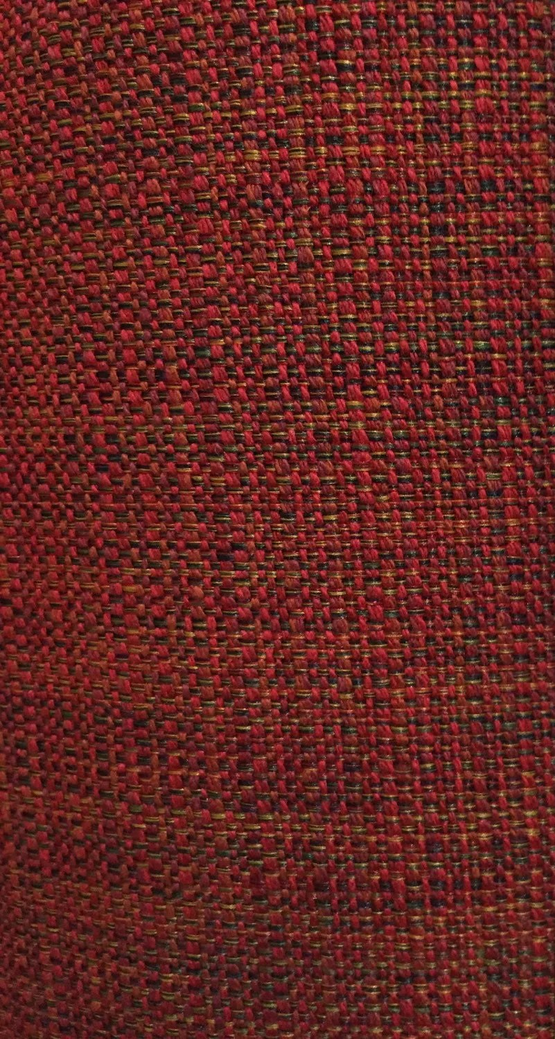 Red Tweed Upholstery Fabric By The Yard Woven Upholstery
