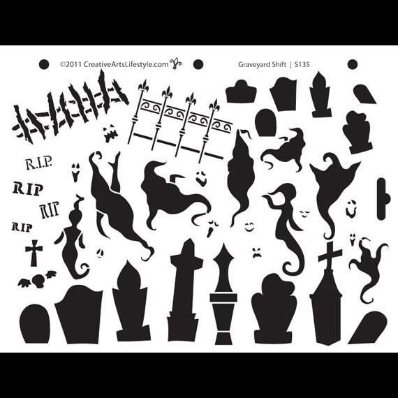 Graveyard Shift Stencil 8 1/2 X 11STCL135 by