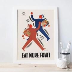 Vintage Posters For Kitchen Travertine Tile Backsplash In Retro Poster Art Deco Fruit Print Ribba