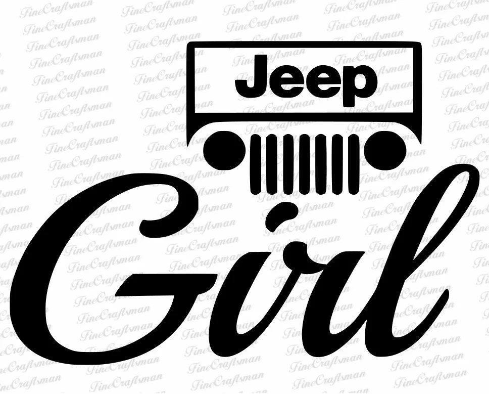 Jeep Girl decals jeep girl stickers for your car Jeep
