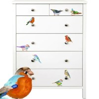 Colorful Birds Watercolor Hand-Painted Decals 12 by ...