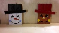 Reversible snowman scarecrow pallet decoration wall hanging