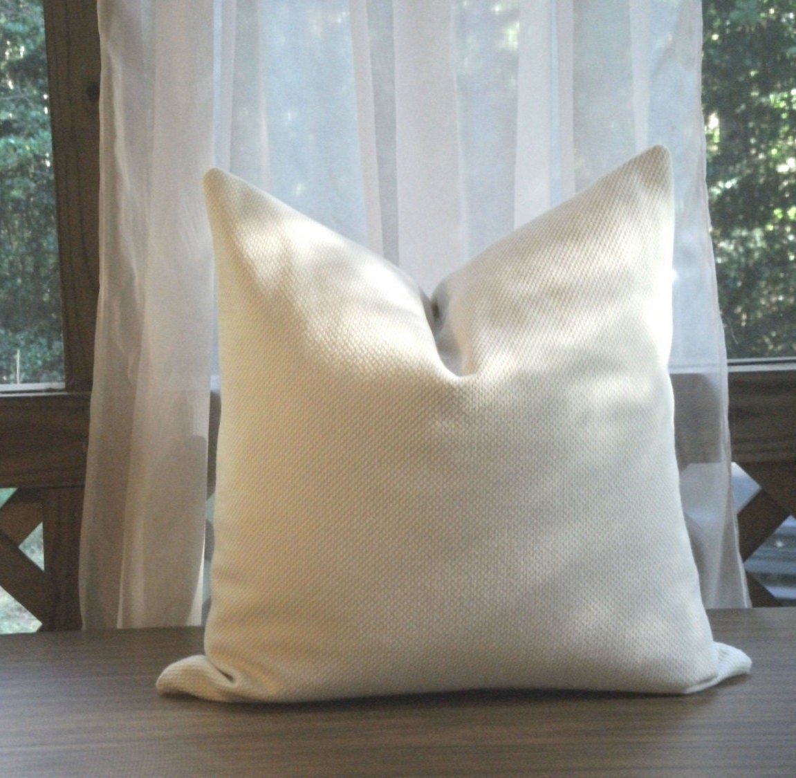 cream colored sofa pillows simmons beds toronto textured pillow cover large by joyfortunedesigns