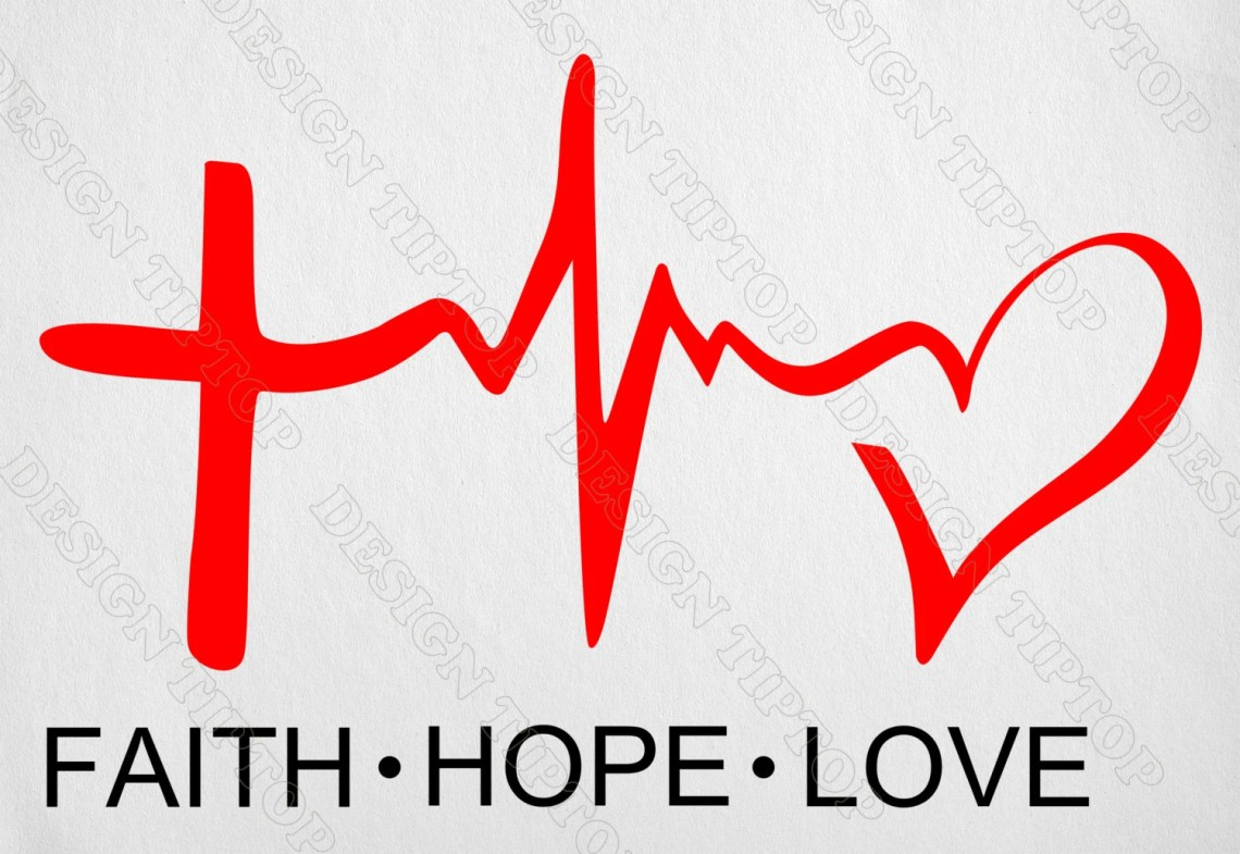Download Print and cut SVG Faith Hope Love t-shirt designs by ...