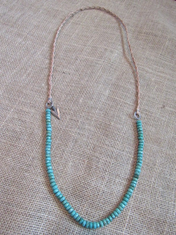 Turquoise And Arrowhead Necklace
