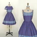 1960s Vintage Dress Purple