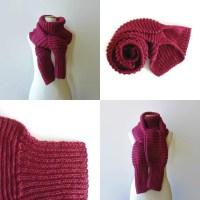 Burgundy Wool Knit Scarf Cute Wrap Scarf Mens Womens