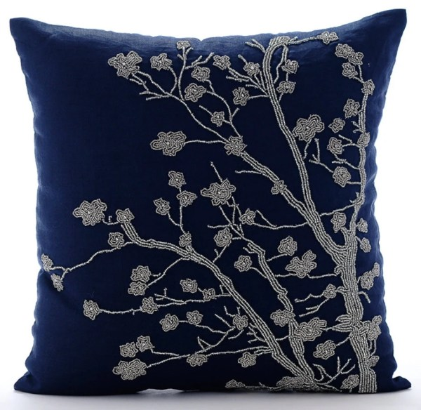 Navy Blue Throw Pillow Covers