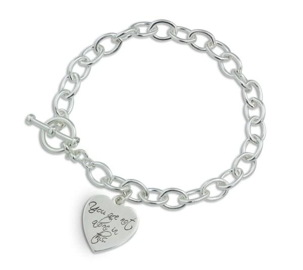 Personalized custom charm bracelet Custom silver heart
