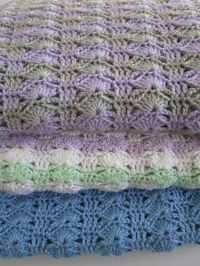 Easy Crochet Blanket Pattern, Arching Shells, Crochet ...