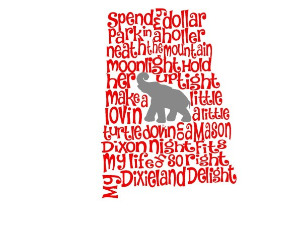 Christmas In Dixie Svg.Alabama Christmas In Dixie Song State Svg Silhouette Year