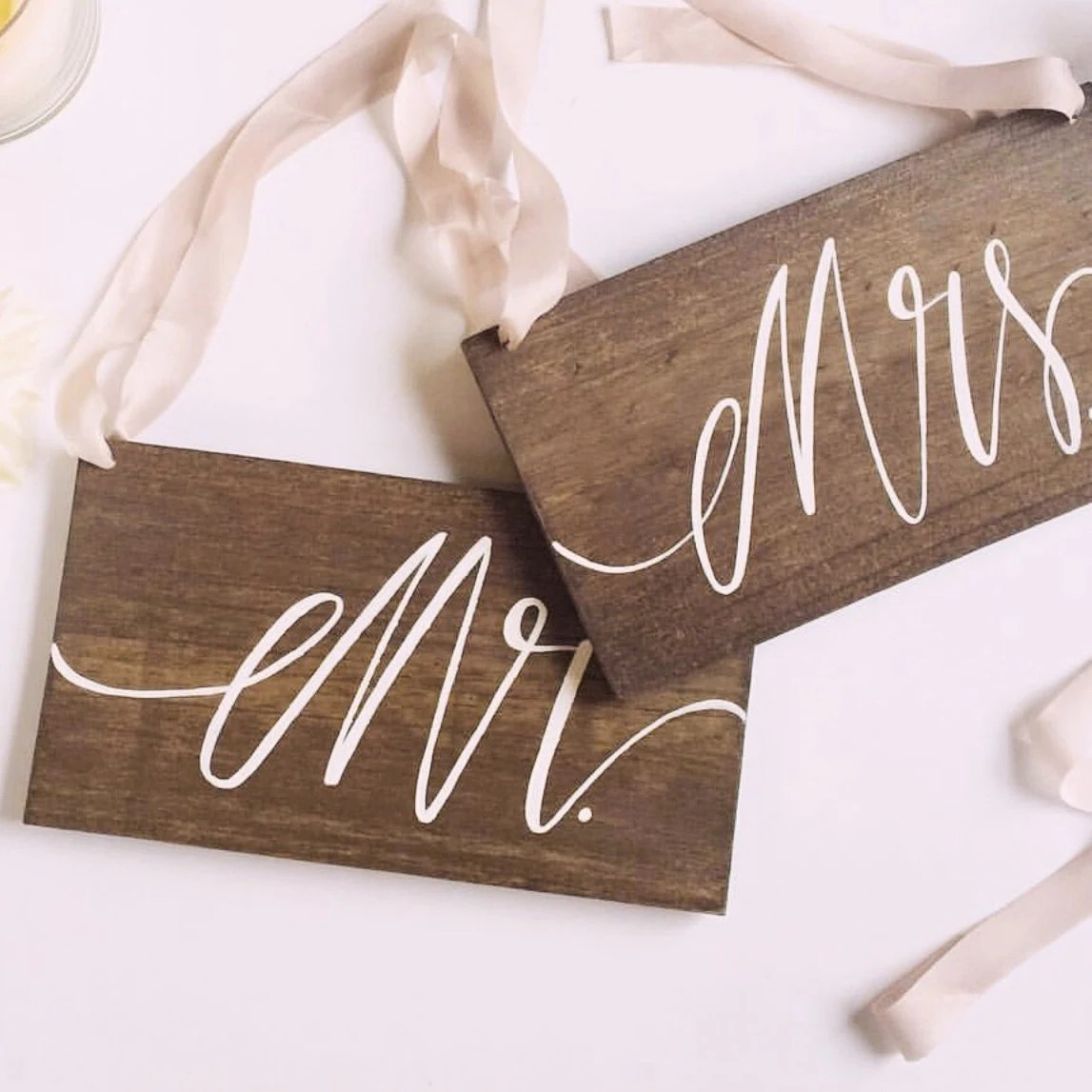mr and mrs chair signs loveseat dining wedding wooden sign