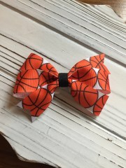 basketball spirit hair bow