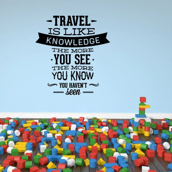 Travel is Like Knowledge Decal by Vinyl Disorder