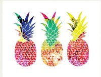 Pineapples Art Print modern pineapple print tropical fruit