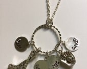 Personalized Multi Sport Mom Charm Necklace