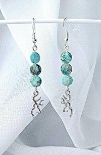 browning buckmark turquoise earrings western earrings