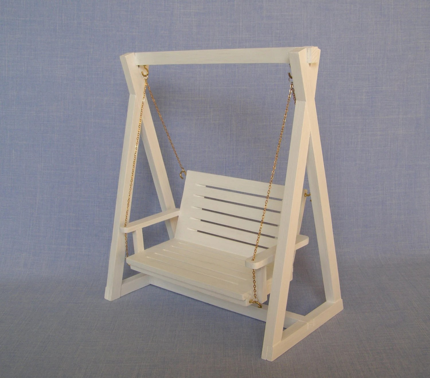 porch lounge chair deck chairs lowes white swing for 12 inch doll / barbie size 1:6 scale