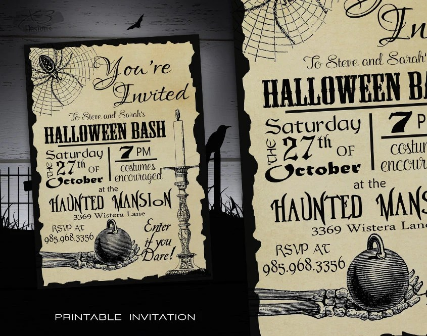 graphic about Free Printable Halloween Invitations for Adults identified as Cost-free Printable Halloween Invites For Grownups