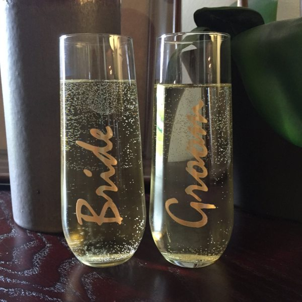 Stemless Champagne Flutes Bride And Groom Engraversnest
