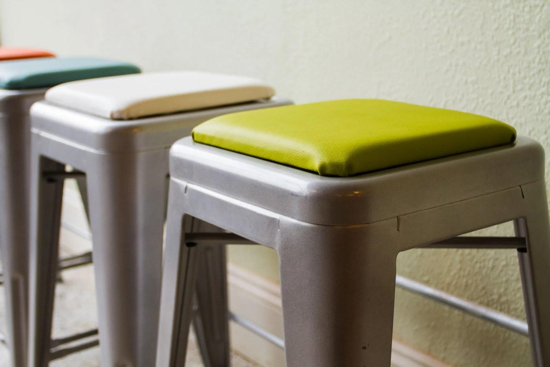 Square Stool Cushion For Metal Stools Tolix Tabouret OSP