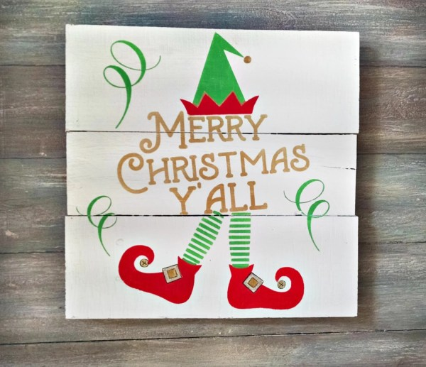 Merry Christmas Y39all Merry Christmas Sign by OnALimbCreations