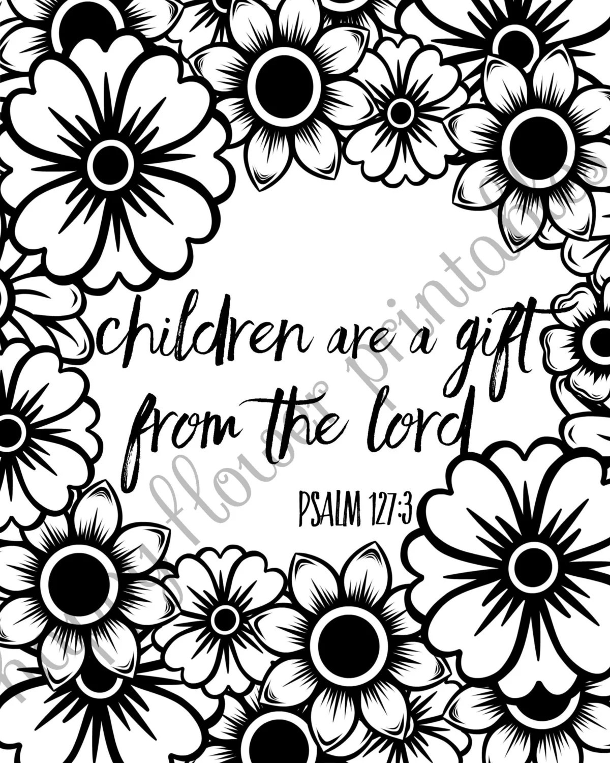 Baby Shower Bible Verse Coloring Party Printables Games