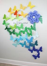 3D Butterfly Wall Art - 3D Wall Butterflies - Paper Wall ...