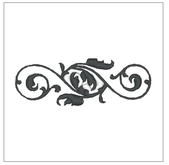 decorative flower wedding banner embroidery pattern