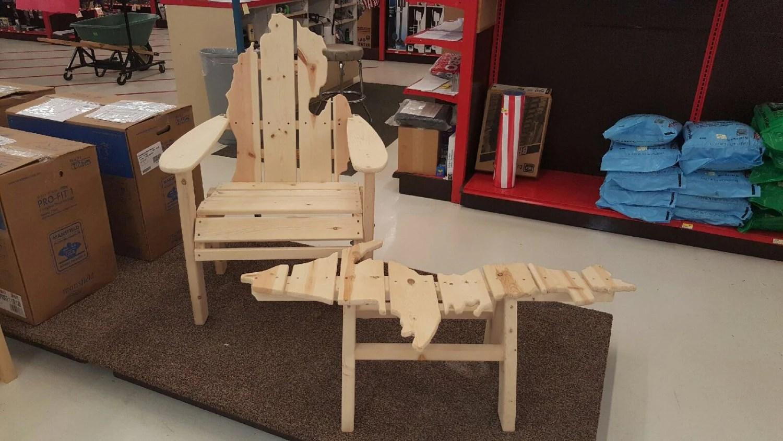 michigan adirondack chair mid century desk