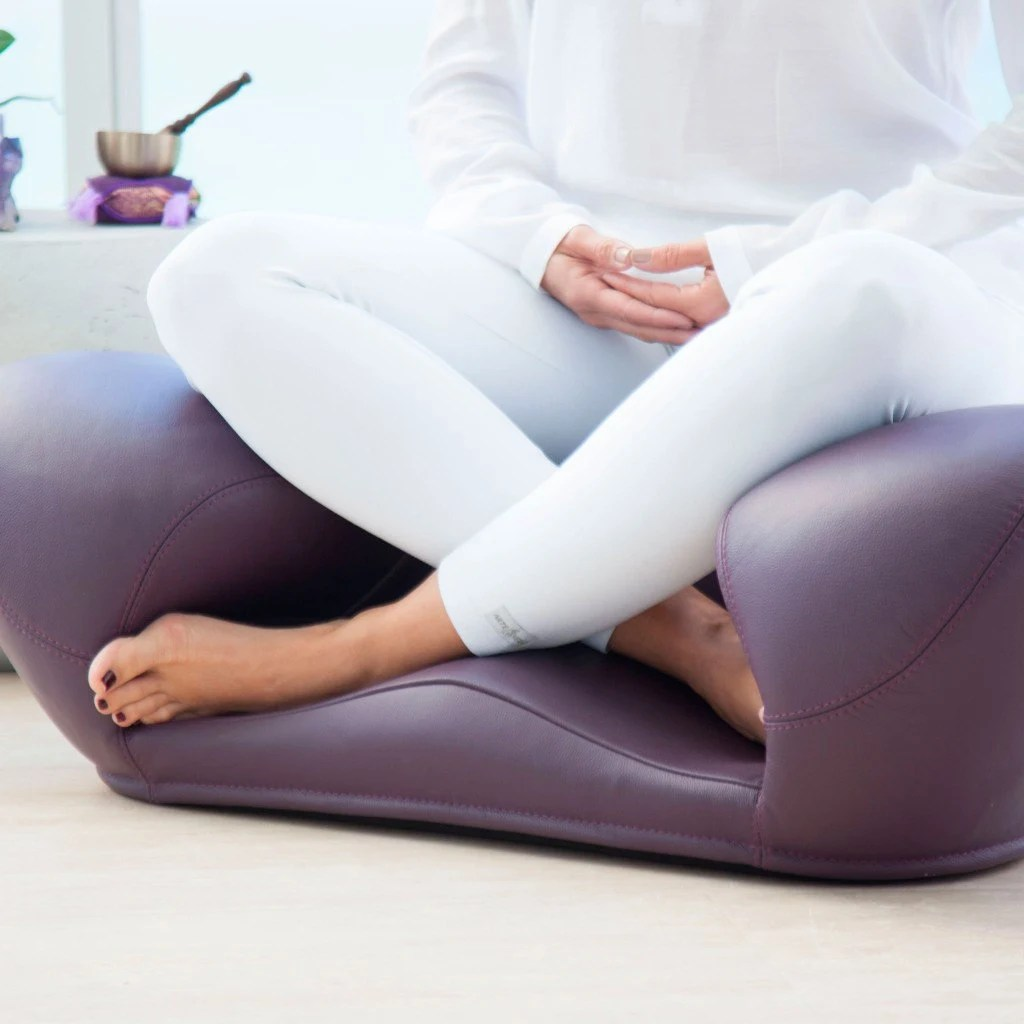 ergonomic yoga chair dining table covers amazon 100 leather meditation seat zen