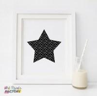 Star wall decor BIG STAR Nursery star wall art printable