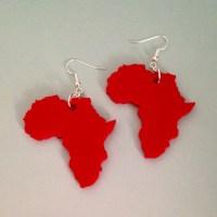 Shape of Africa Earrings Laser Cut Acrylic Dangle Earrings