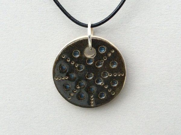 Ceramic Pendant Minimal Jewelry Black Pendant by HappyLaika