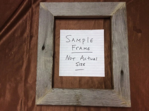 Flat 10x20 Barn Wood Frame Hand Crafted