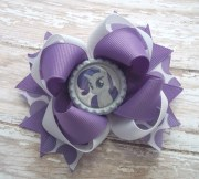 birthday pony hair bow handmade