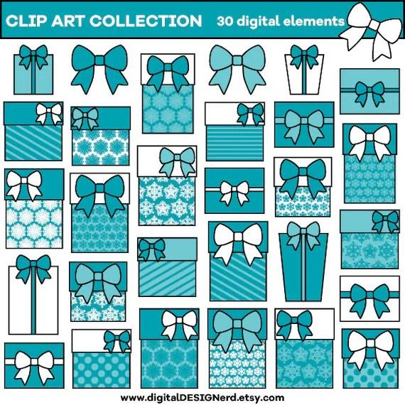 clip art - teal blue christmas